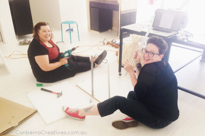 Canberra Creatives working bee