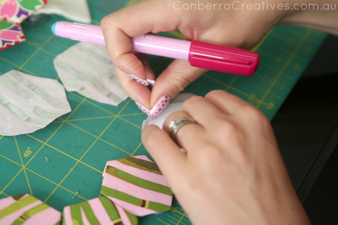 English paper piecing workshop Canberra