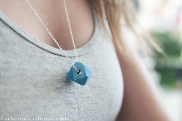 geometric clay necklace project canberra