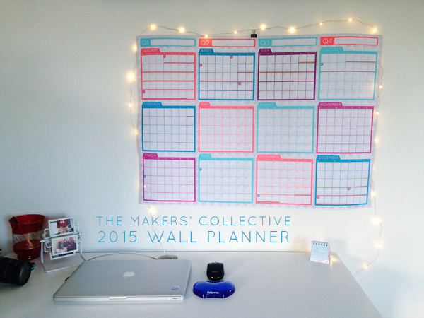NEON 2015 Wall Planner A1 for Bloggers and Small Business