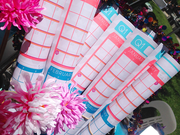 NEON NEON 2015 Wall Planner A1 for Bloggers and Small Business