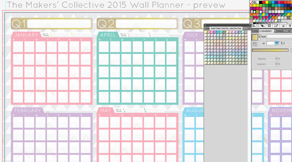 2015-wall-planner for small business and creatives