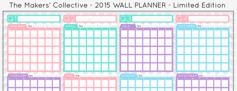 2015 A2 Wall Planner - The Makers' Collective