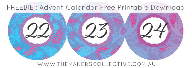 advent-calendar free printable download