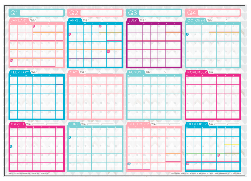 2015 Wall Planner - Sent to print! » The Makers Collective
