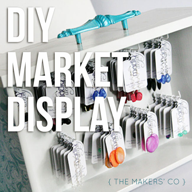 DIY Market Display Drawer for earrings or other products