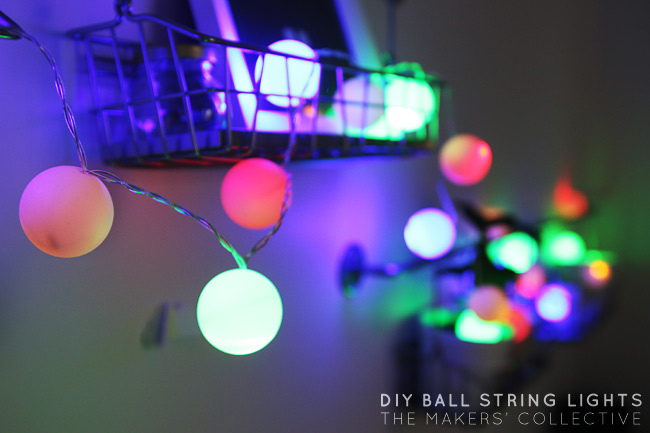DIY party string lights tutorial