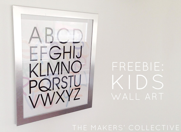 Alphabet ids Wall Art Free Download