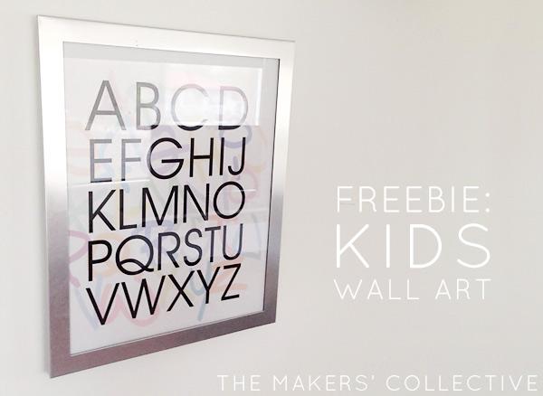 Alphabet ids Wall Art Free Download