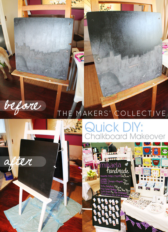 DIY Market Display - chalkboard Makeover
