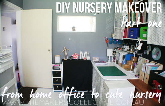 DIY Nursery Makeover - from home office to cute nursery