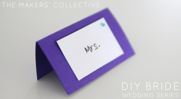 DIY Bride Wedding Place cards