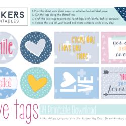 Printable Download - Love Tags