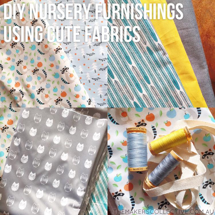 diy nursery makeover fabrics