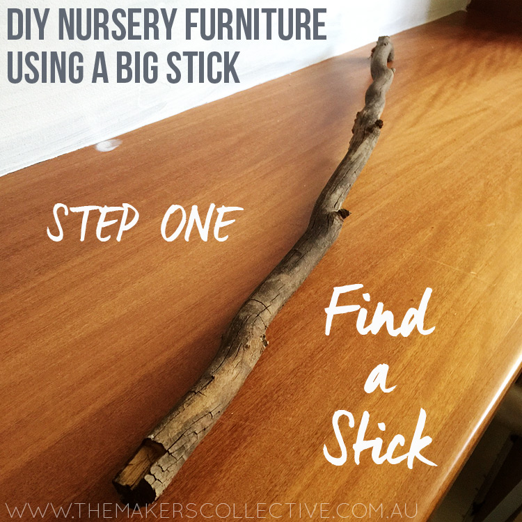 diy nursery makeover stick project