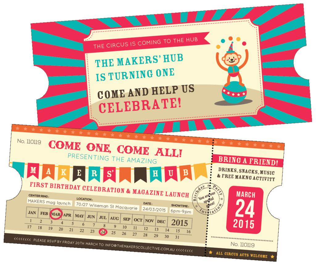 The Makers Hub Birthday Party Invitation