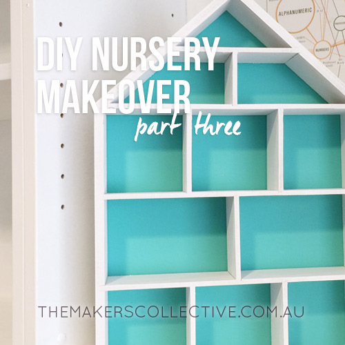 DIY Nursery Makeover from home office to baby room
