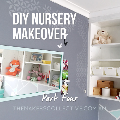 DIY Nursery Makeover grey and mint