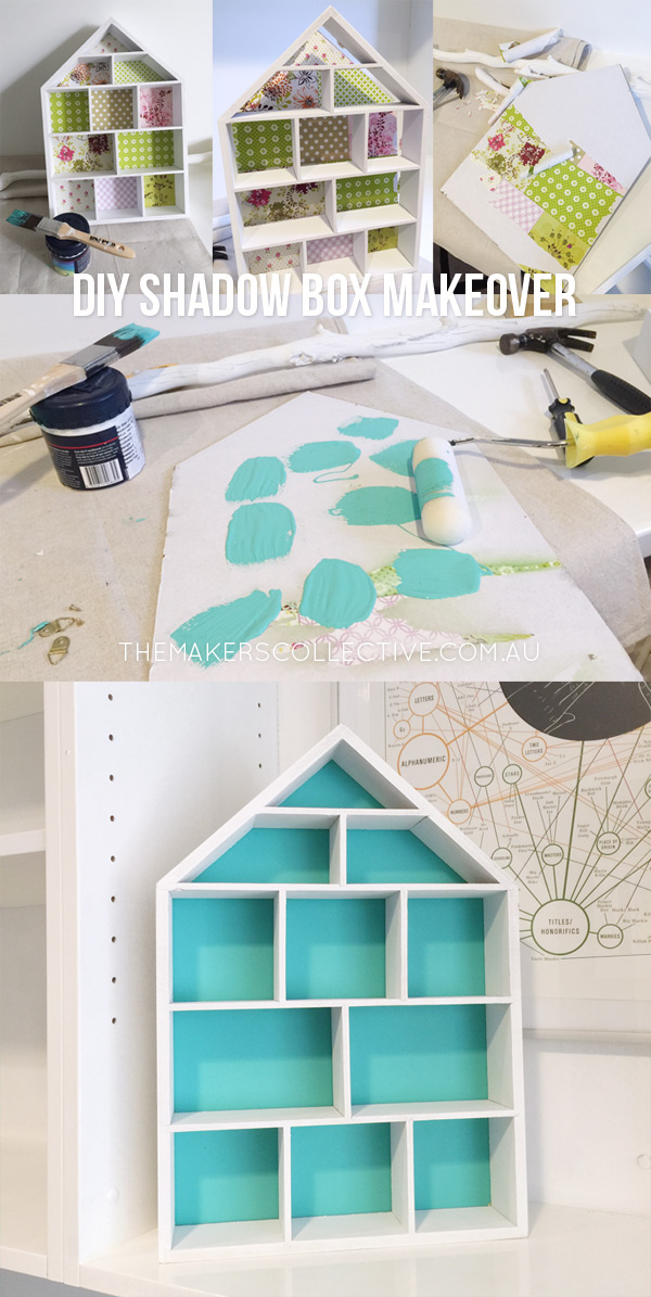 DIY Shadow Box Makeover for kids room