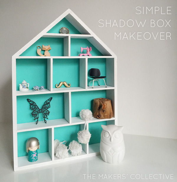 Simple shadow box makeover