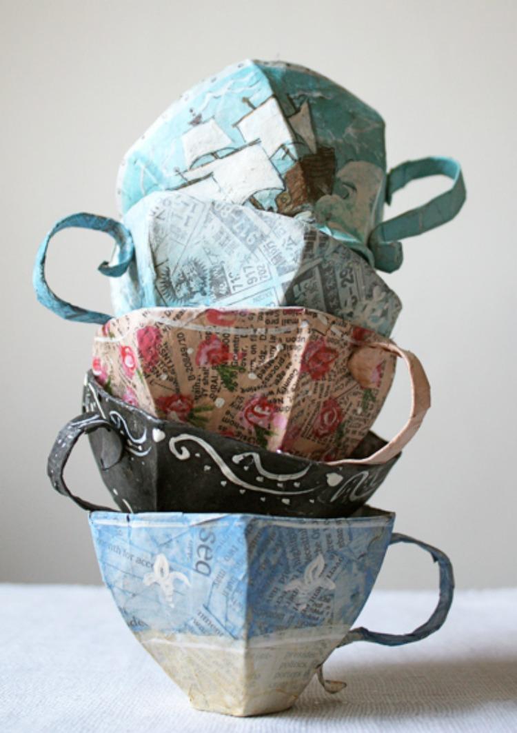 Paper mache cups