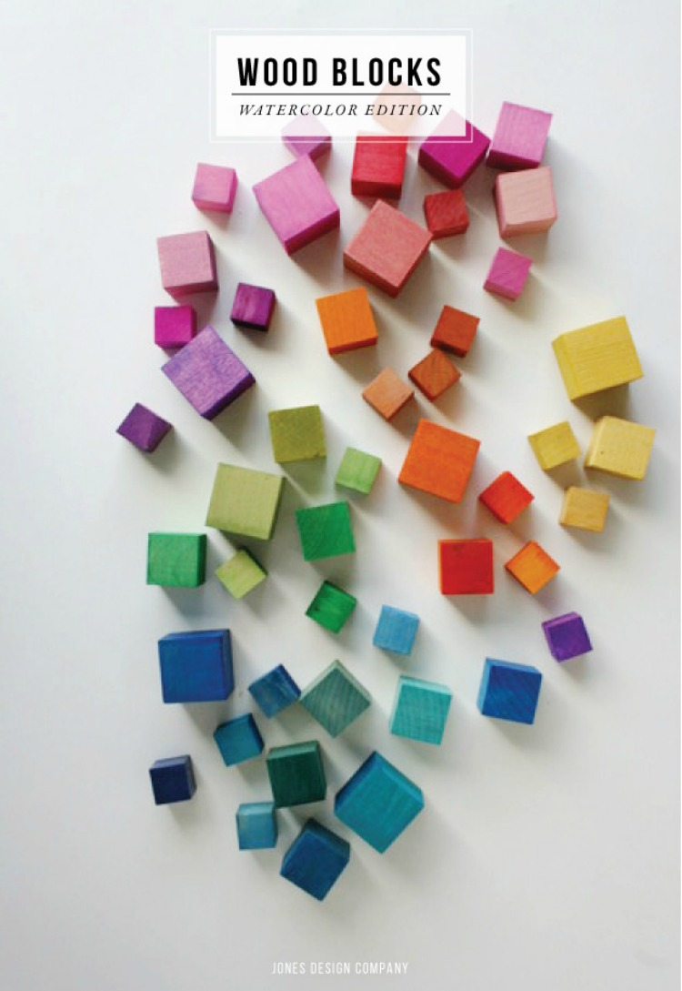 DIY coloured blocks