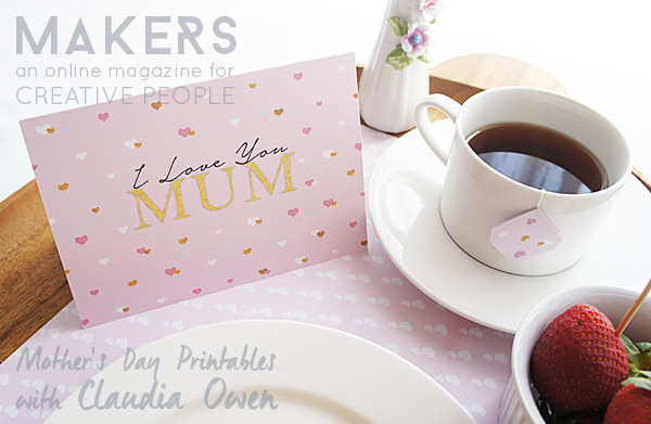 Mother's Day Breakfast in Bed Printables