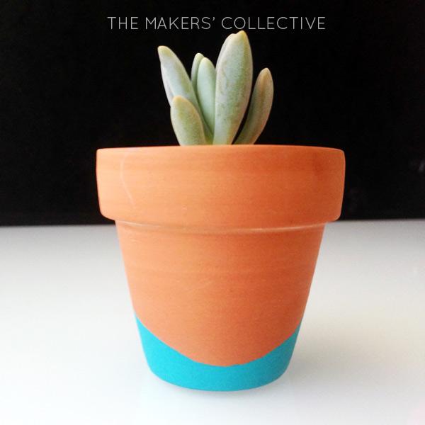 DIY Painted Glitter Pots Tutorial
