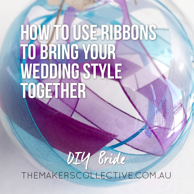 DIY Wedding colours with ribbon