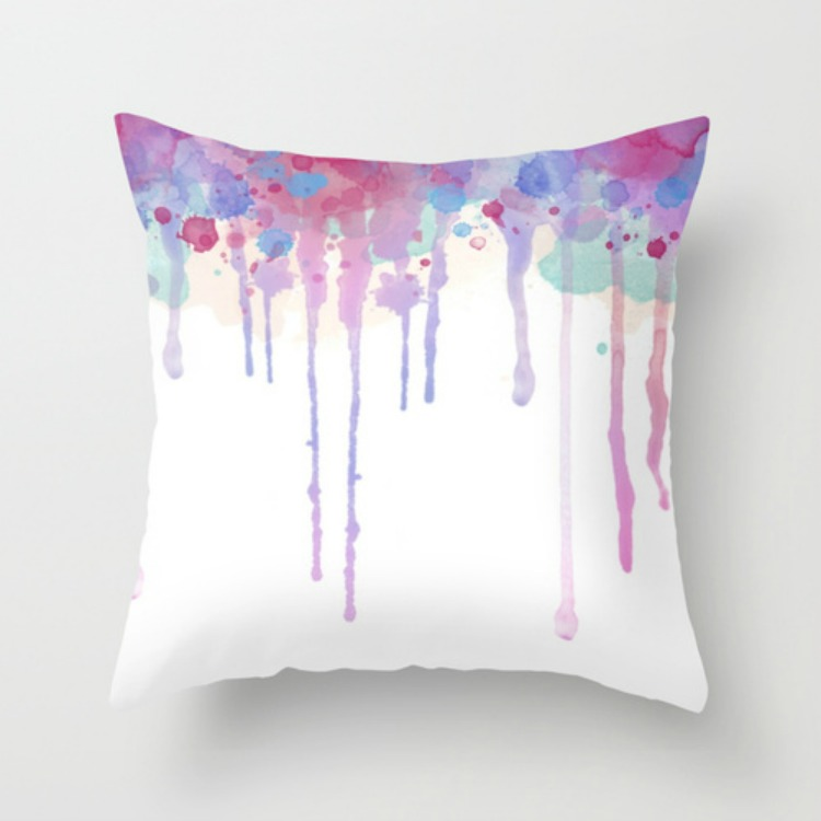 watercolour pillow
