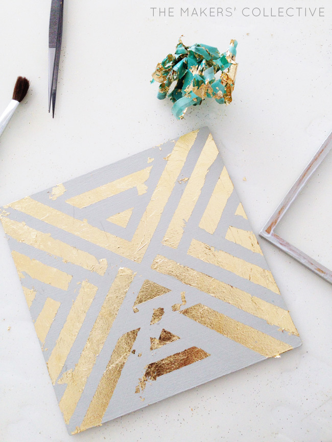 DIY craft Gold Foil Tray tutorial