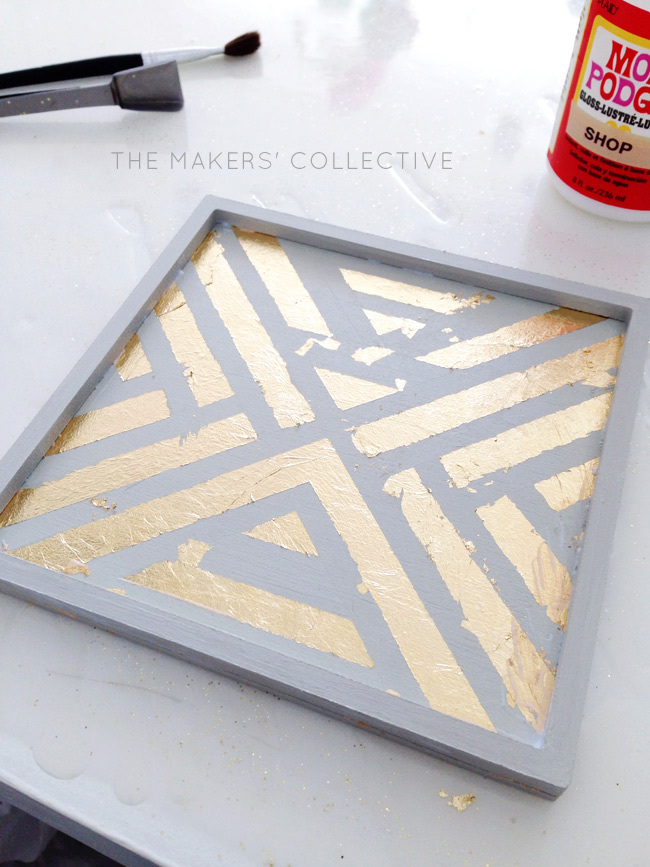 DIY craft Gold Foil Tray tutorial
