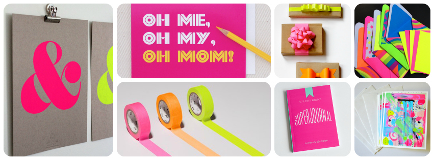 neon stationery design