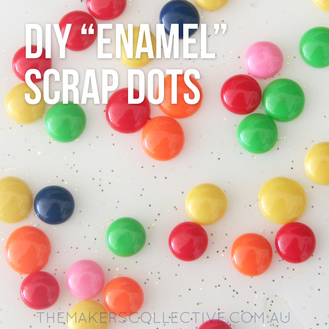 DIY tutorial bead scrap dots