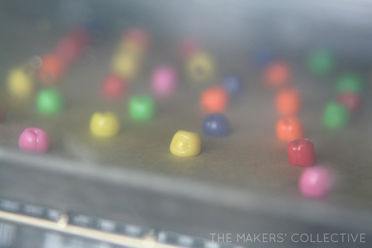 tutorial - place beads in oven