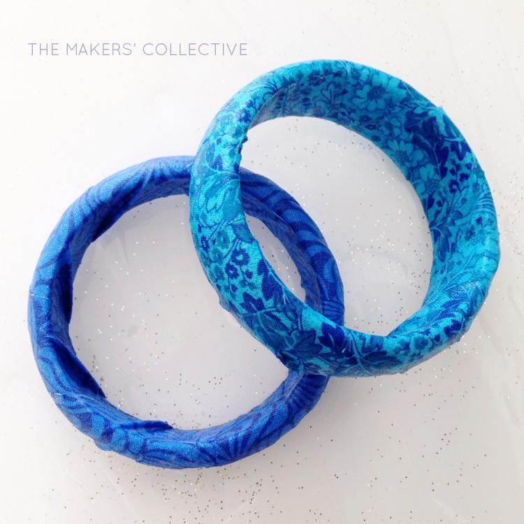 tutorial - DIY fabric bangles