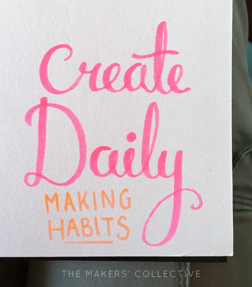 create daily lettering practice