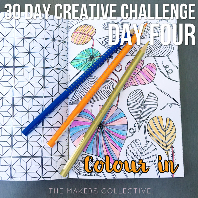 creative challenge colour-in