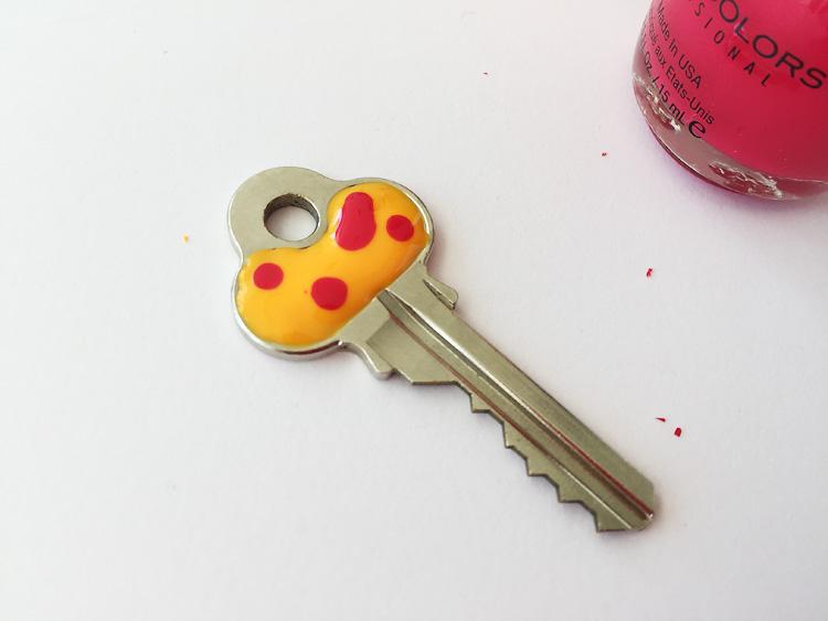 nail polish keys creative challenge