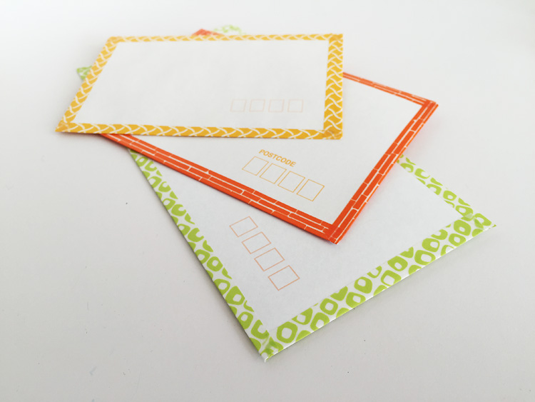 creative challenge washi tape envelopes