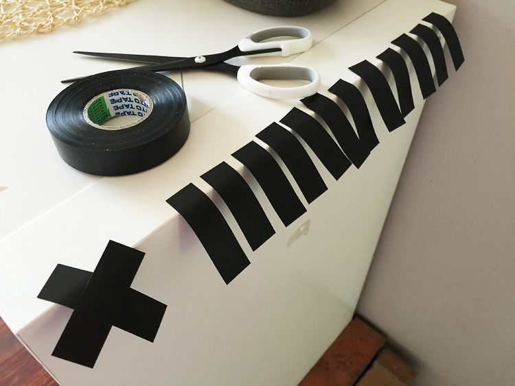 electrical tape wall decor creative challenge