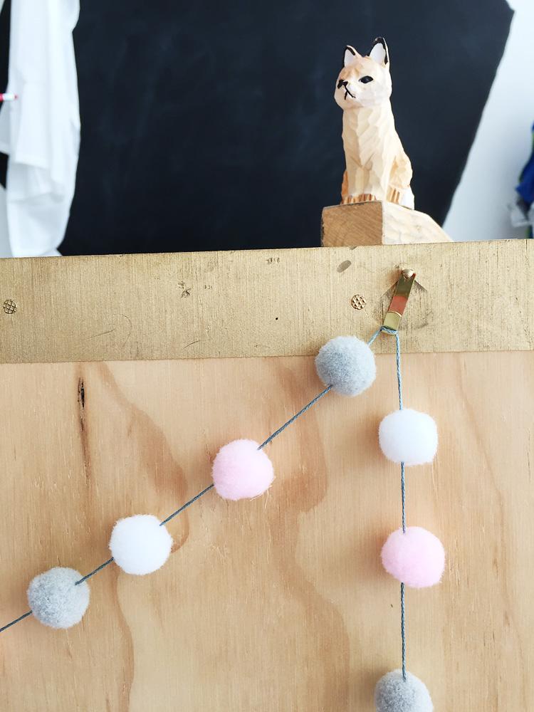 creative challenge pompom garland