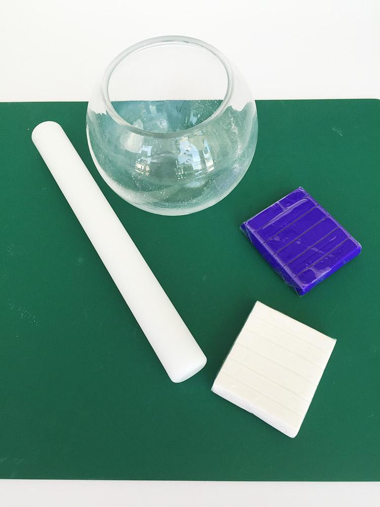 creative-challenge polymer clay vase