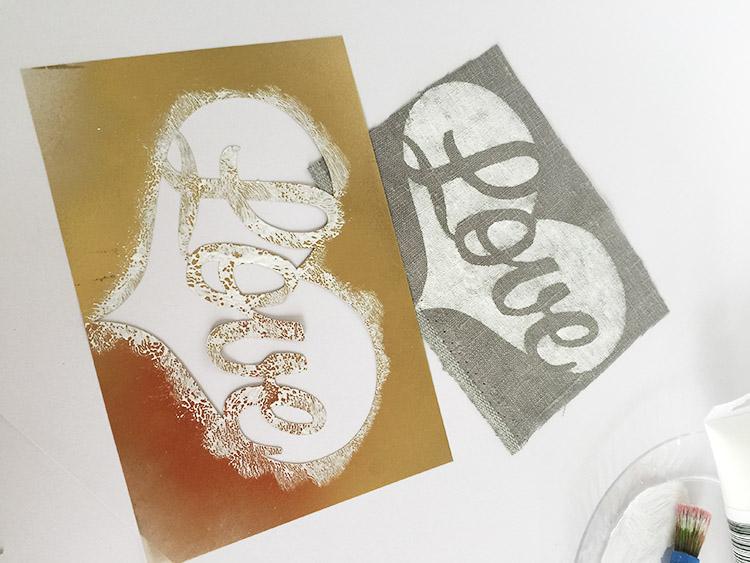 creative-challenge fabric stencil art