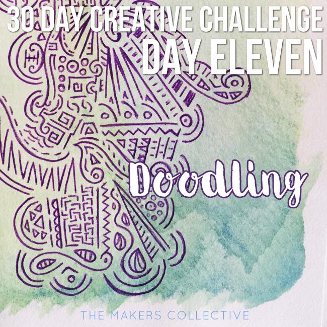 creative challenge doodling