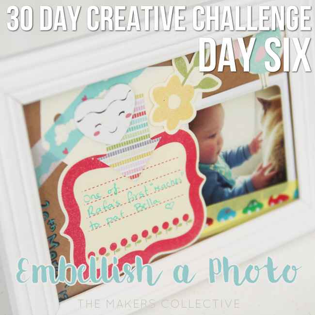 creative challenge embellish-a-photo