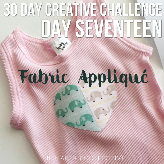 creative challenge fabric-applique