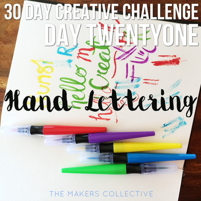 creative challenge hand-lettering