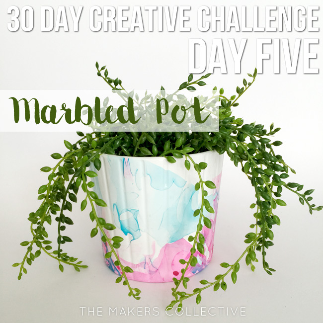 creative challenge marbled-pot