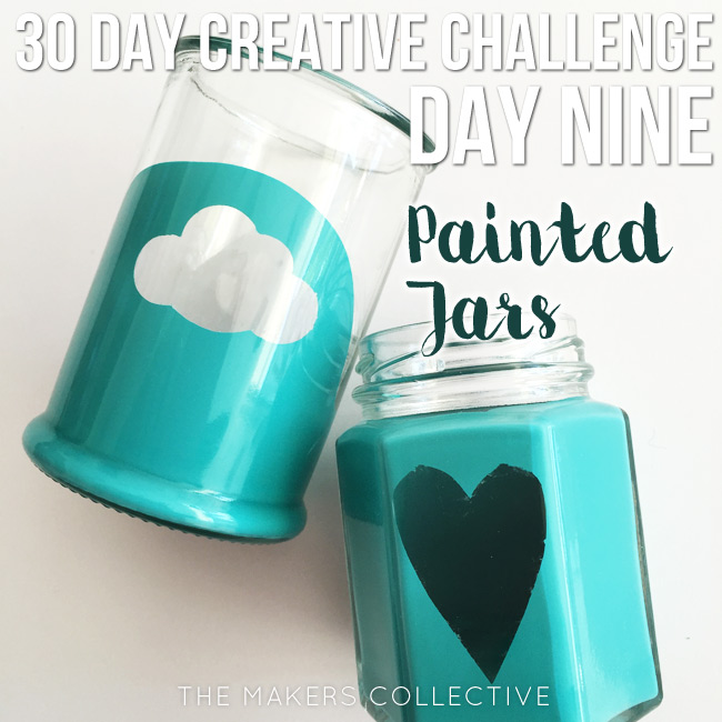creative challenge painted-jars